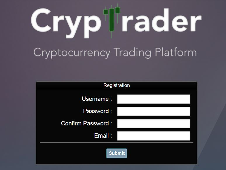 Crypto Market Trader Register