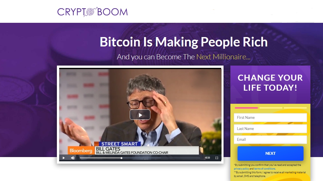 Crypto Boom signup